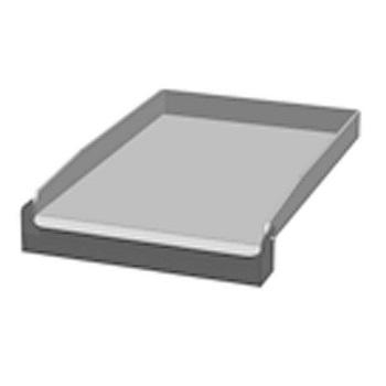 Eurast 4A602FOC Placa-frytop 2 fuegos para gama 600 snack - 320x520 mm