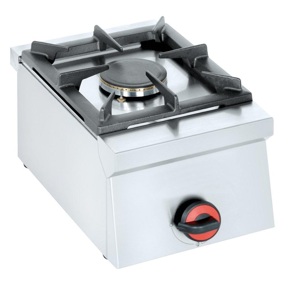 Eurast 44110M10 Hornillo a gas 1 fuego de sobremesa - 300x450x240 mm - 4.5 Kw