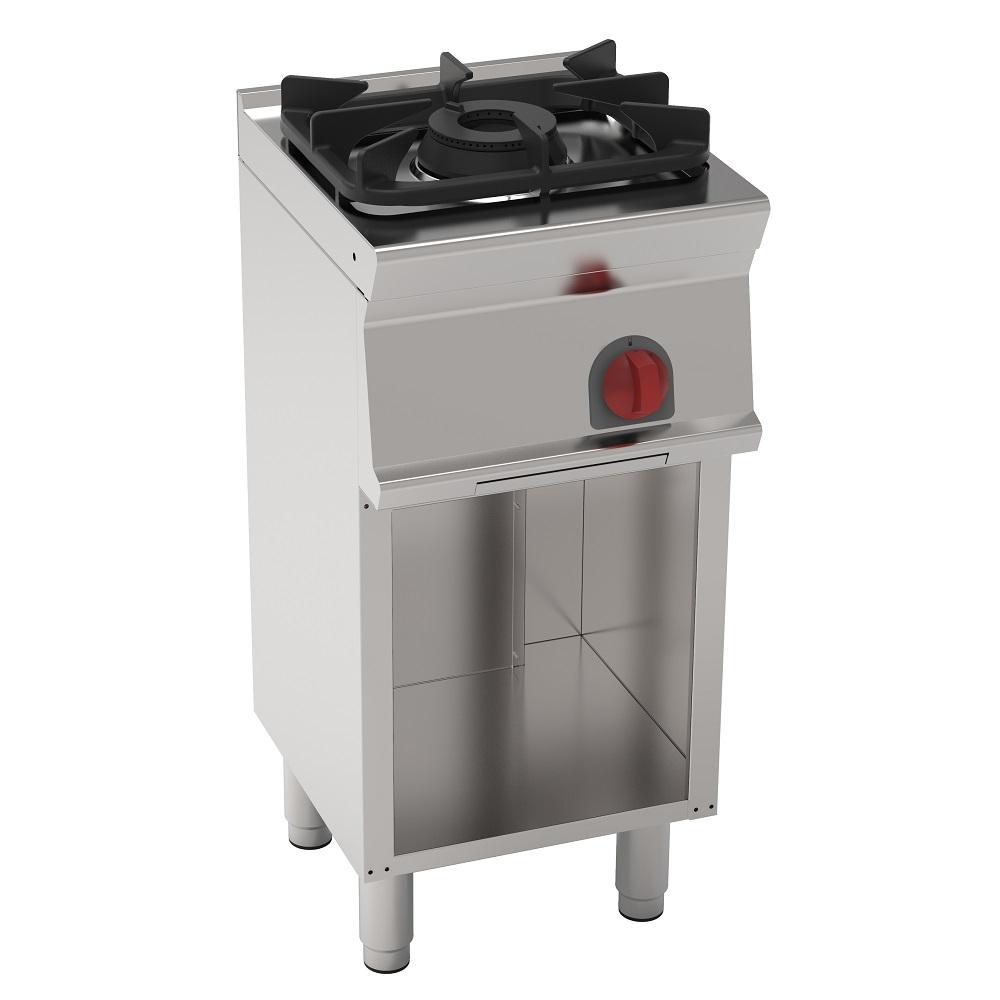 Eurast 33290317 Cocina 1 fuego a gas sobre soporte abierto - 400x450x900 mm - 7.2 Kw