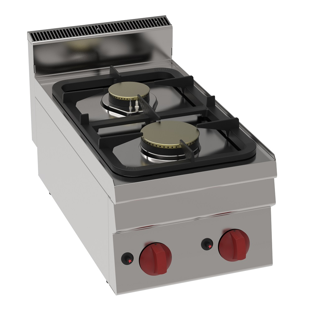 Eurast 33630321 Gas boiling 2 burners table top - 350x600x280 mm - 8.5 Kw