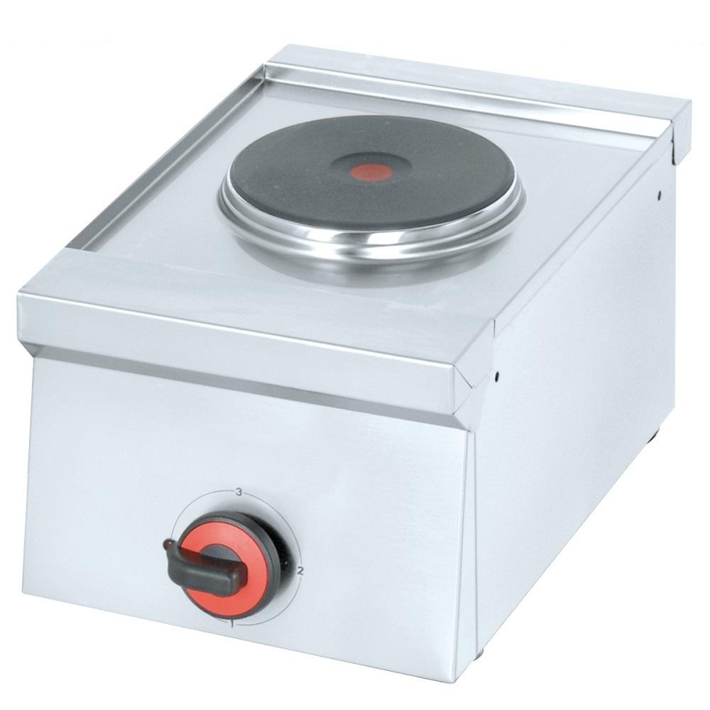 Eurast 44810M10 Hornillo eléctrico 1 placa de sobremesa - 300x450x240 mm - 2 Kw 230/1V