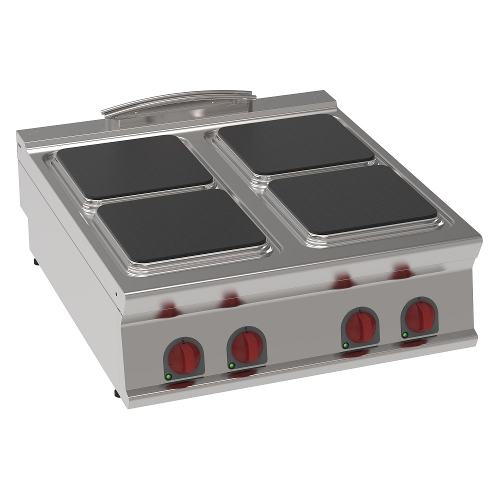 Eurast 34300613 Electric boiling 4 squares plates table top - 800x900x280 mm - 16 Kw 400/3V