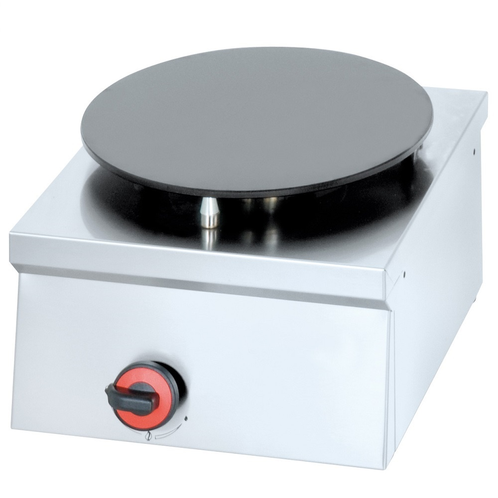 Eurast 44160M10 Gas crepe machine 1 plate d=380 mm - 400x450x240 mm - 4.5 Kw