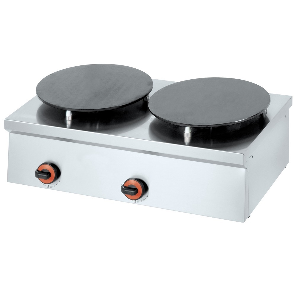 Eurast 44170M10 Gas crepe machine 2 plates d=380 mm - 800x450x240 mm - 9 Kw
