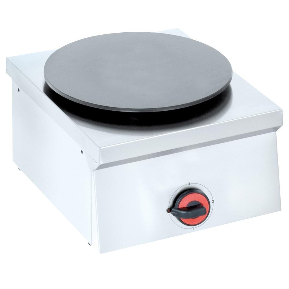 Eurast 44180M10 Electric crepe machine 1 plate d=380 mm - 400x450x240 mm - 2 Kw 230/1V