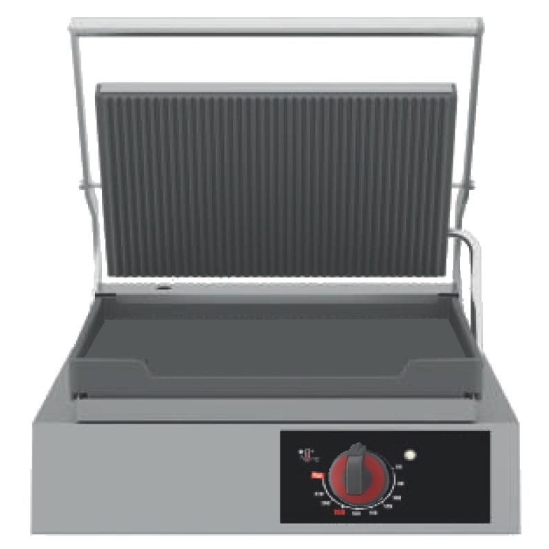 Eurast 44126017 Plancha grill eléctrica 1 placa 255x245 y 1 grill - 330x450x260 mm - 2 Kw 230/1V