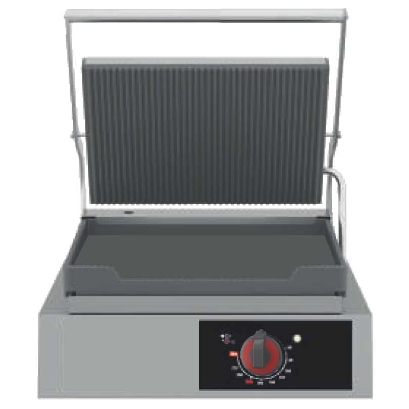 Eurast 44326017 Grill hot plate 1 plate 360x245 and 1 grill - 440x450x260 mm - 3,3 Kw 230/1V