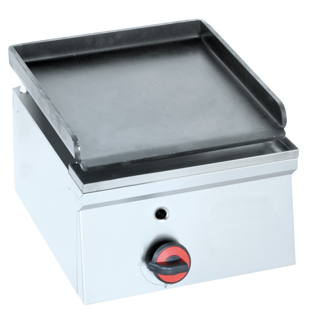 Eurast 44220M10 Gas iron hot plate 6 mm  smooth table top - 400x450x240 mm - 3.5 Kw