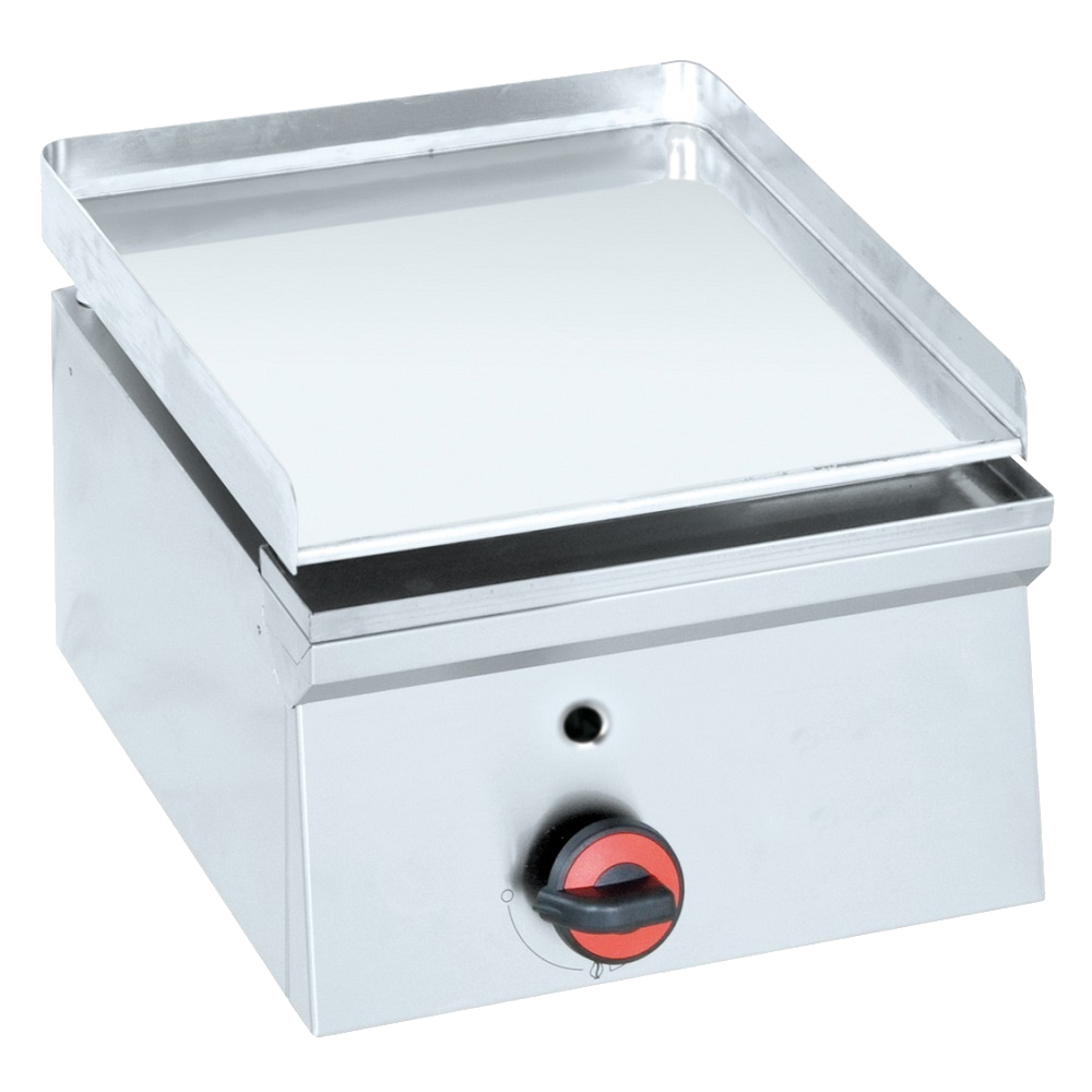 Eurast 44420M10 Gas hard chrome hot plate 12 mm  smooth table top - 400x450x240 mm - 3.5 Kw
