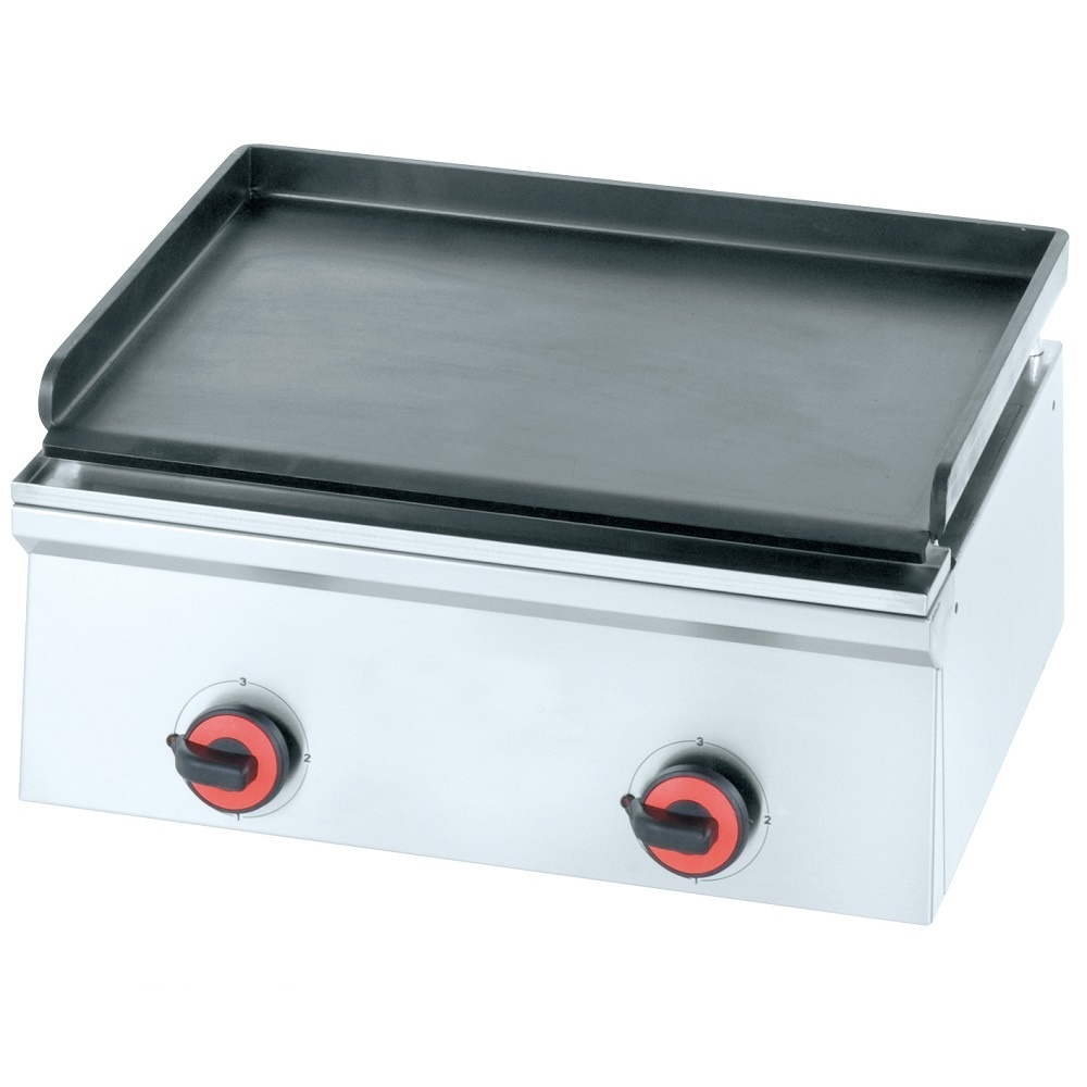 Eurast 4403EM10 Electric iron hot plate 10 mm  smooth table top - 600x450x240 mm - 3 Kw 230/1V