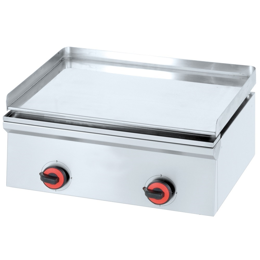 Eurast 4443EM10 Electric hard chrome hot plate 12 mm smooth table top - 600x450x240 mm - 3 Kw 230/1V