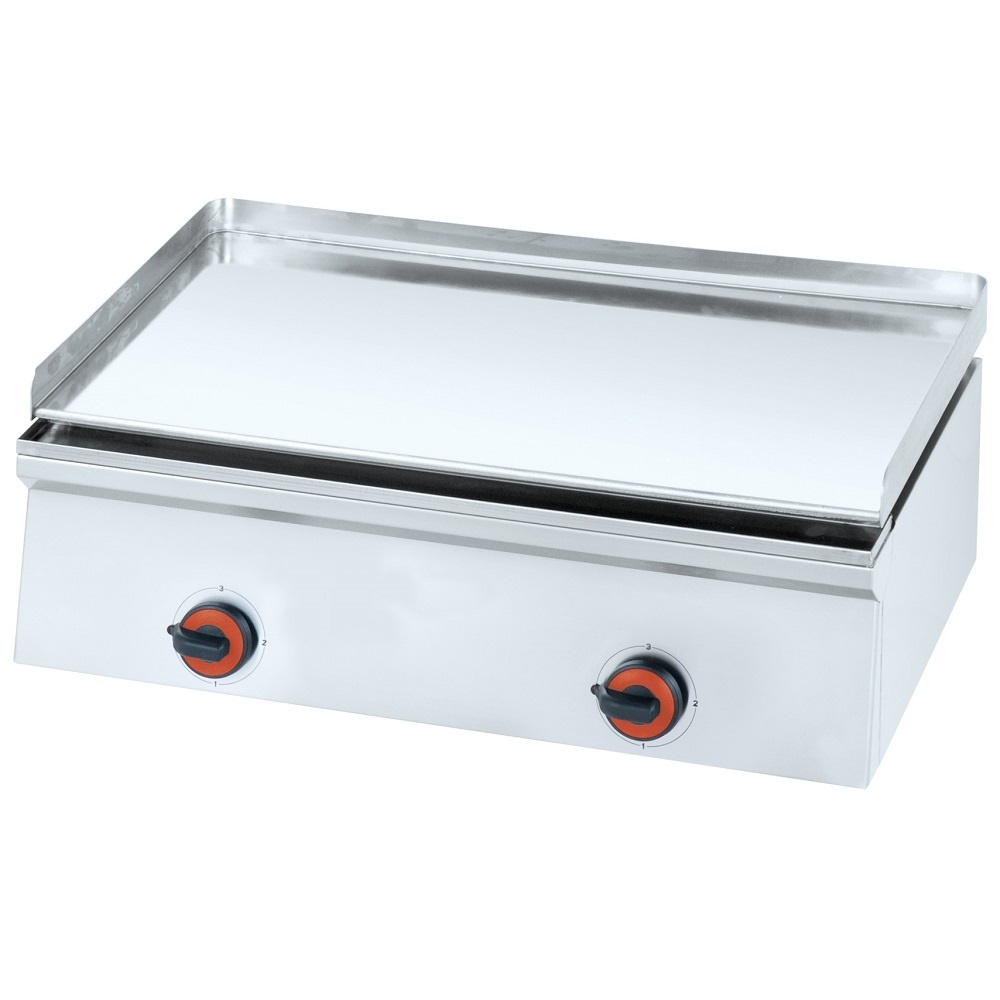 Eurast 4444EM10 Electric hard chrome hot plate 12 mm smooth table top - 800x450x240 mm - 4 Kw 230/1V
