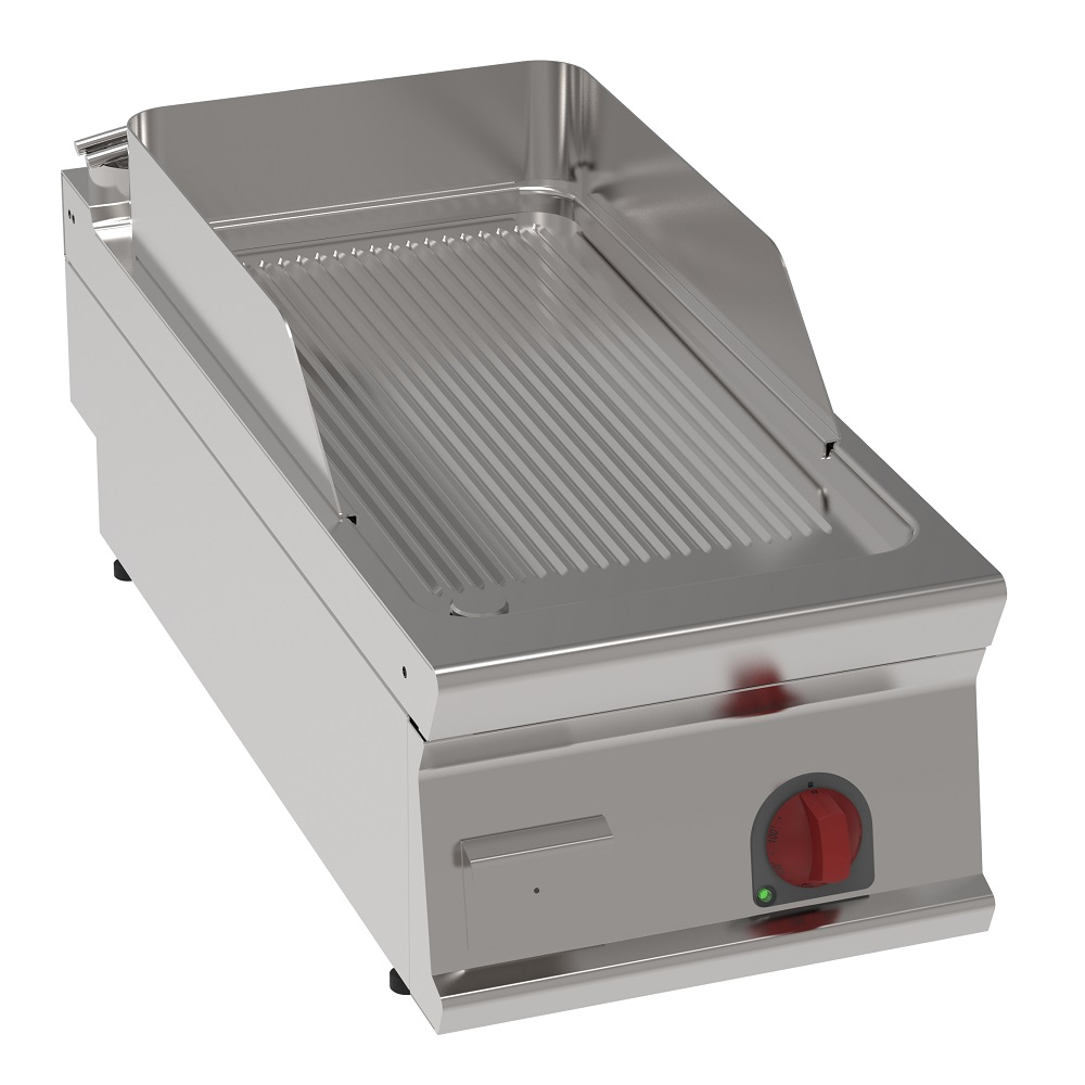 Eurast 36550613 Electric iron hot plate 15 mm  grooved tabletop - 400x900x280 mm - 6 Kw 400/3V
