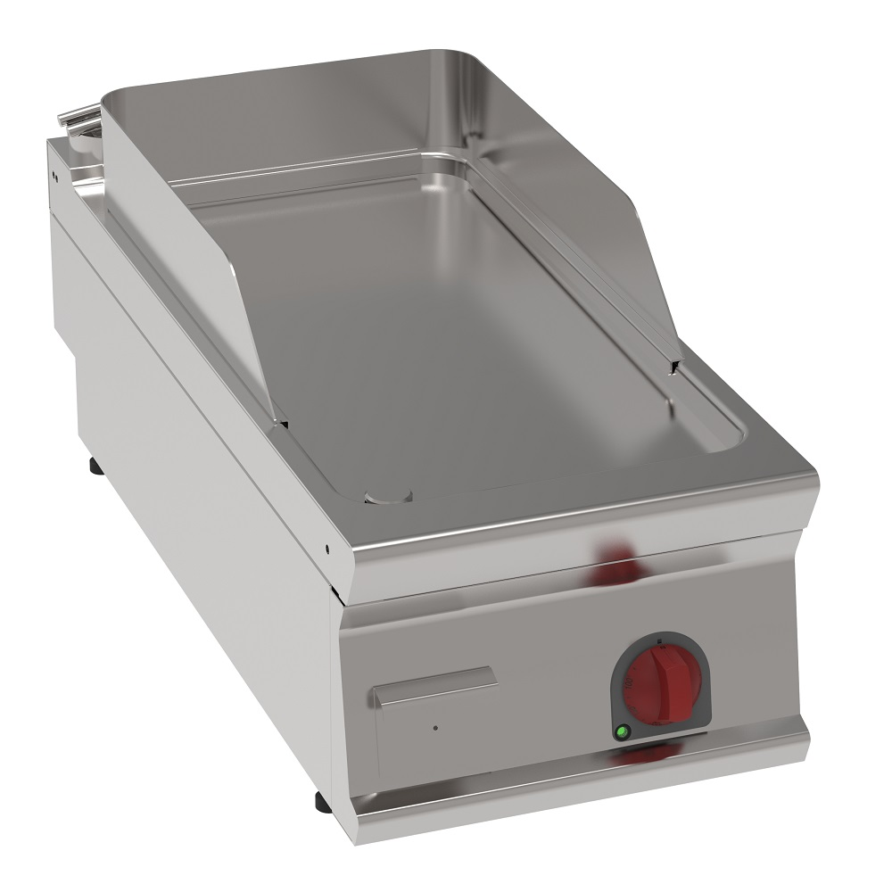 Eurast 36750613 Electric hard chrome hot plate 15 mm smooth table top - 400x900x280 mm - 6 Kw 400/3V