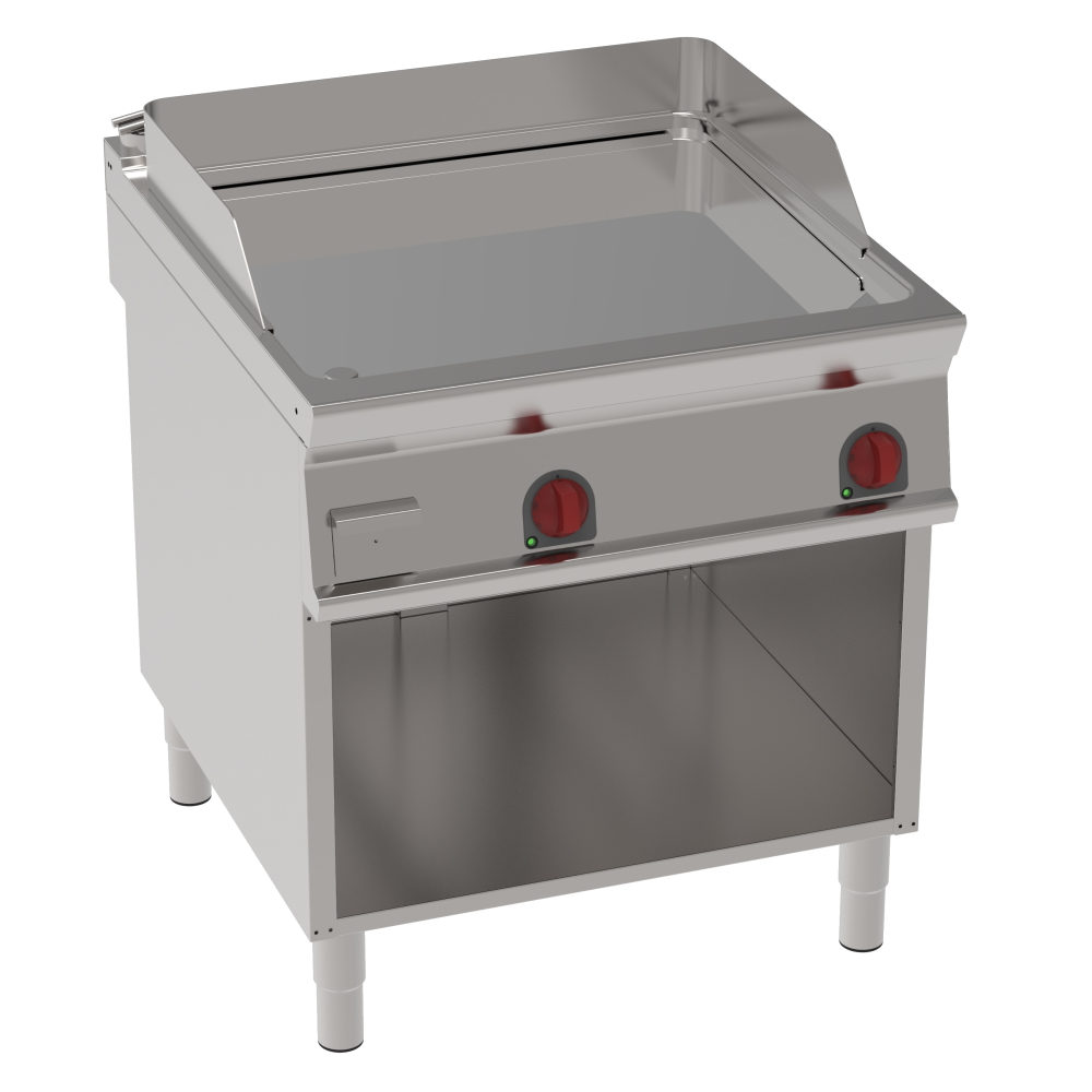 Eurast 36570613 Electric hard chrome hot plate 15 mm smooth on open support - 800x900x900 mm - 12 Kw