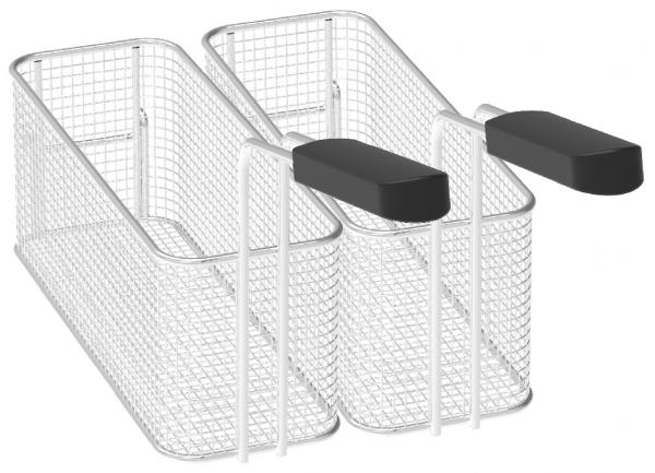 Eurast 4A096021 Kit of 2 fryer baskets for 10 lts. sink - 105x265x105 mm