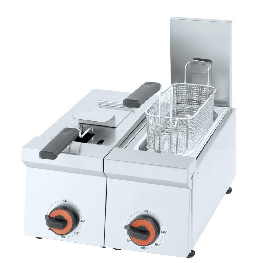 Eurast 42550M10 Freidora electrica 5+5 litros de sobremesa - 400x450x240 mm - 4,4 Kw 230/1V