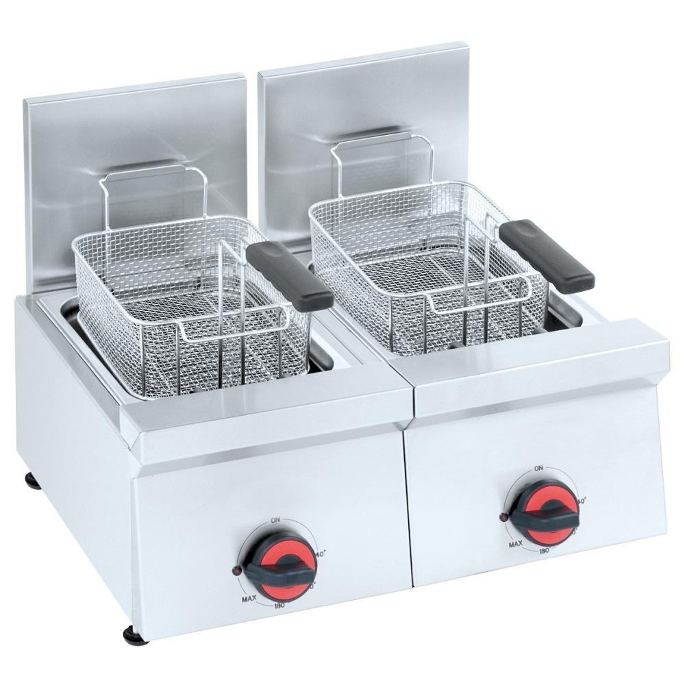 Eurast 42880M10 Freidora electrica 8+8 litros de sobremesa - 600x450x240 mm - 6 Kw 230/1V