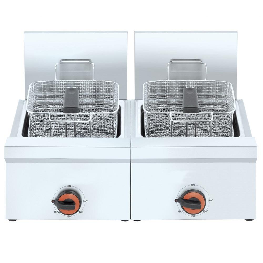 Eurast 42240M10 Freidora electrica 12+12 litros de sobremesa - 800x450x240 mm - 8,8 Kw 230/1V