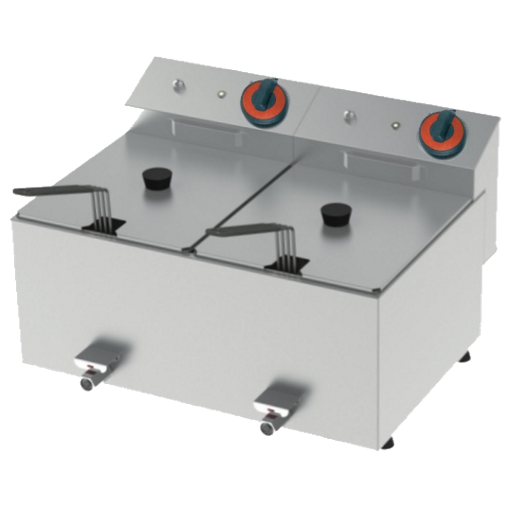 Eurast 4420CL01 Electric fryer 10+10 liters tabletop - 540x450x320 mm - 8,4 Kw 230/1V