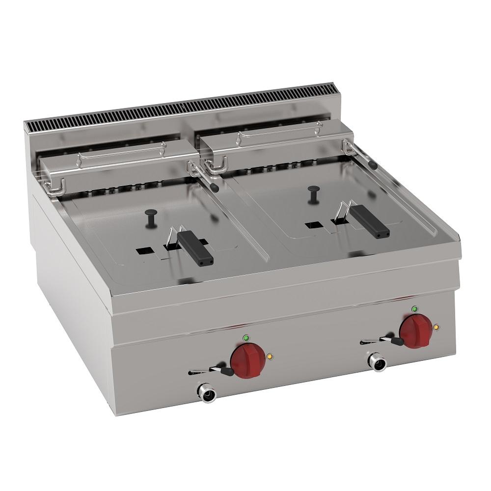 Eurast 30530621 Freidora electrica 10+10 litros de sobremesa - 700x600x280 mm - 12 Kw 400/3V