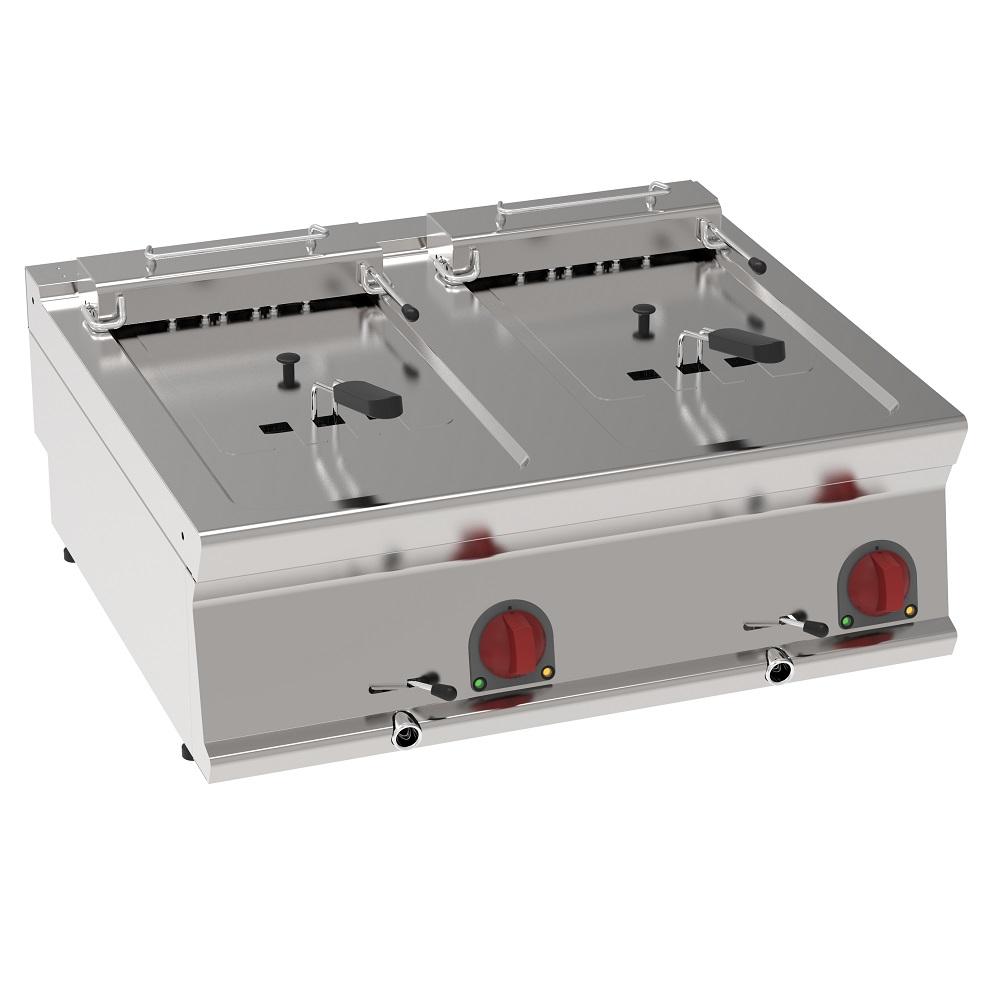 Eurast 39590617 Freidora electrica 10+10 litros de sobremesa - 800x700x280 mm - 15 Kw 400/3V