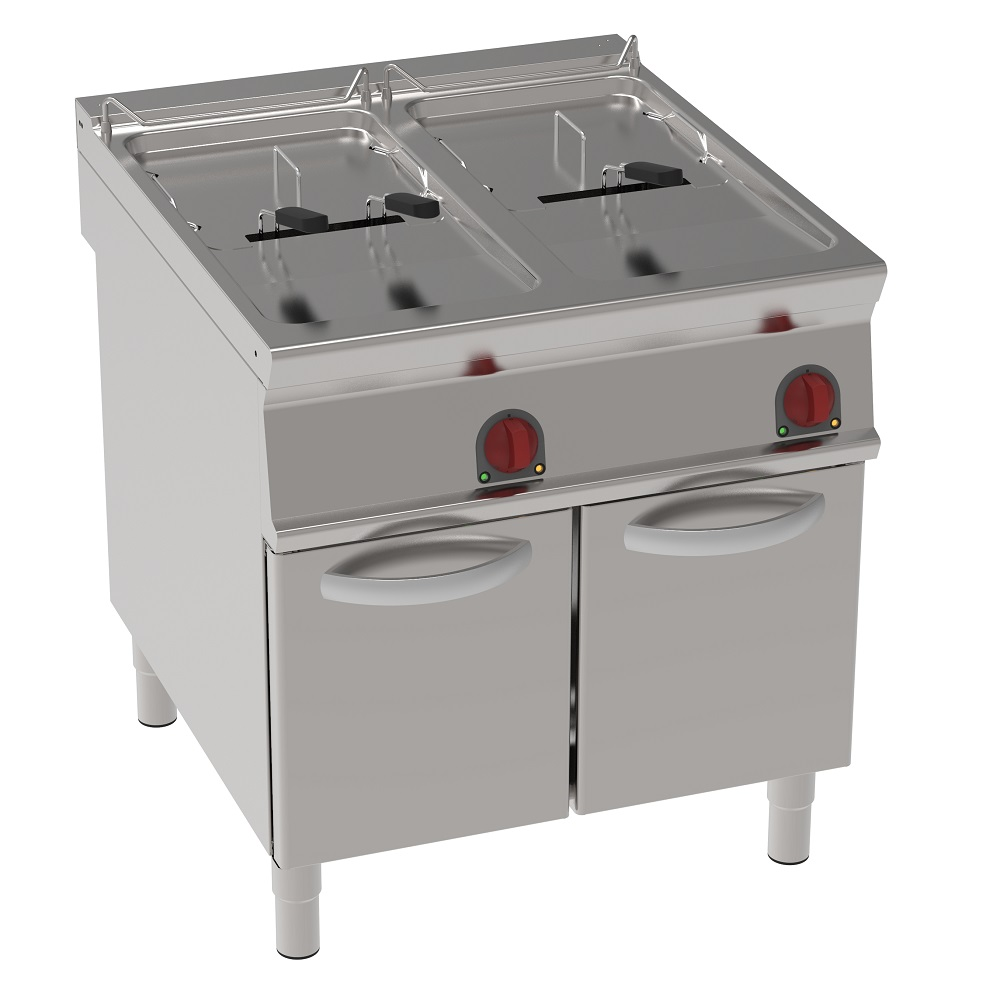 Eurast 39780613 Electric fryer 25+25 liters on support - 800x900x900 mm - 40 Kw 400/3V