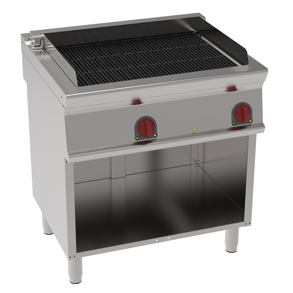 Eurast 47731617 Electric vapor grill on open support - 800x700x900 mm - 13,2 Kw 400/3V