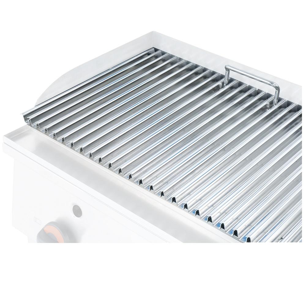 Eurast 447201PX Parrilla acero inox para barbacoa grupo 450 bar - 600x400 mm