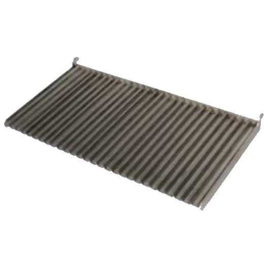 Eurast 4A015329 Parrilla acanalada de inoxidable para barbacoas - 760x350 mm