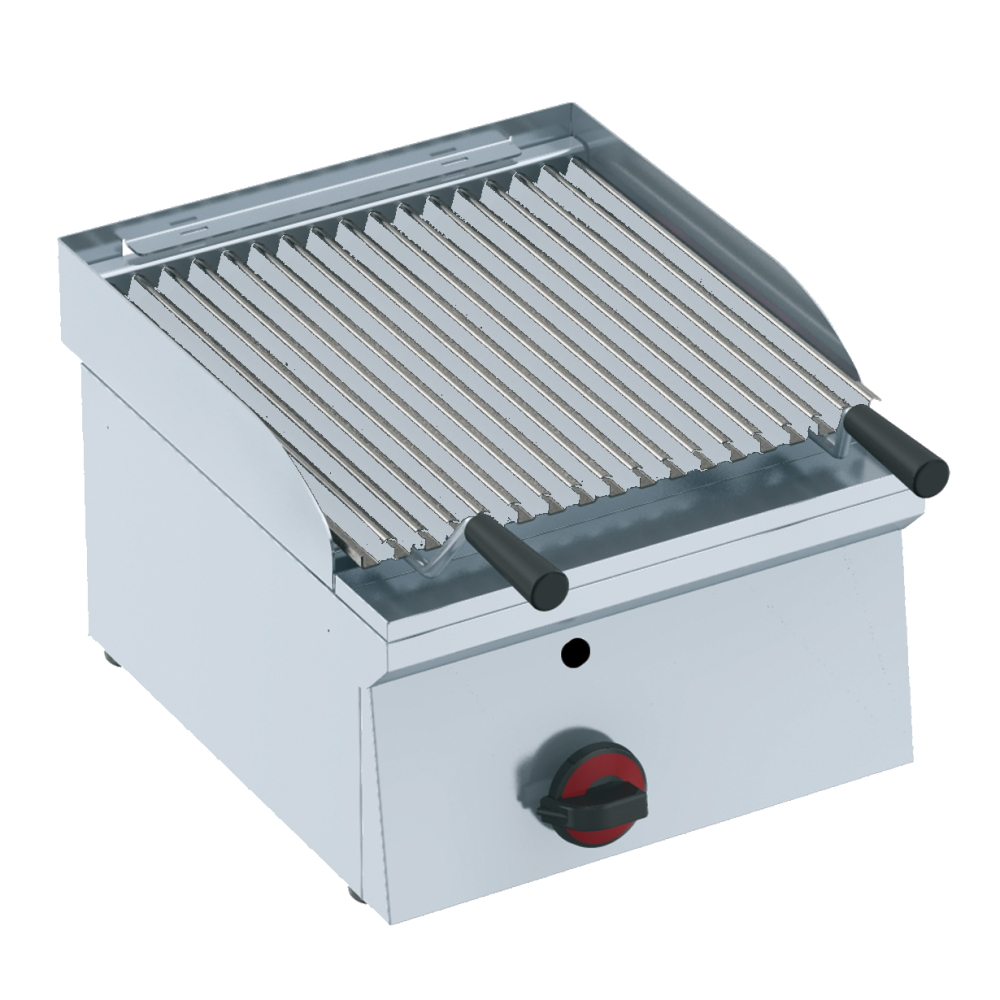 Eurast 44710M10 Gas lava barbecue on table top - 400x450x240 mm - 7 Kw