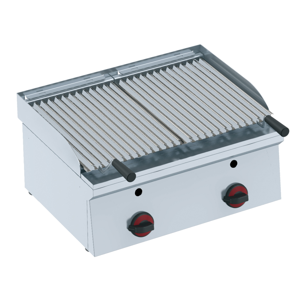 Eurast 44720M10 Gas lava barbecue on table top - 600x450x240 mm - 10.5 Kw