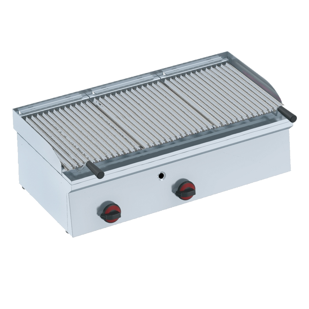 Eurast 44730M10 Gas lava barbecue on table top - 900x450x240 mm - 17.5 Kw