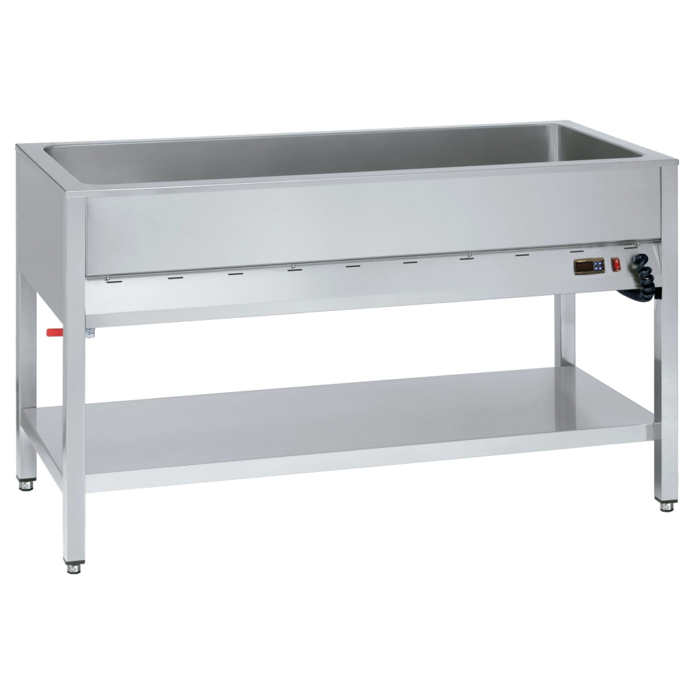Eurast 53020340 Electric bain marie for 3 gn 1/1-200 on support - 1060x610x850 mm - 2,4 KW 230/1V