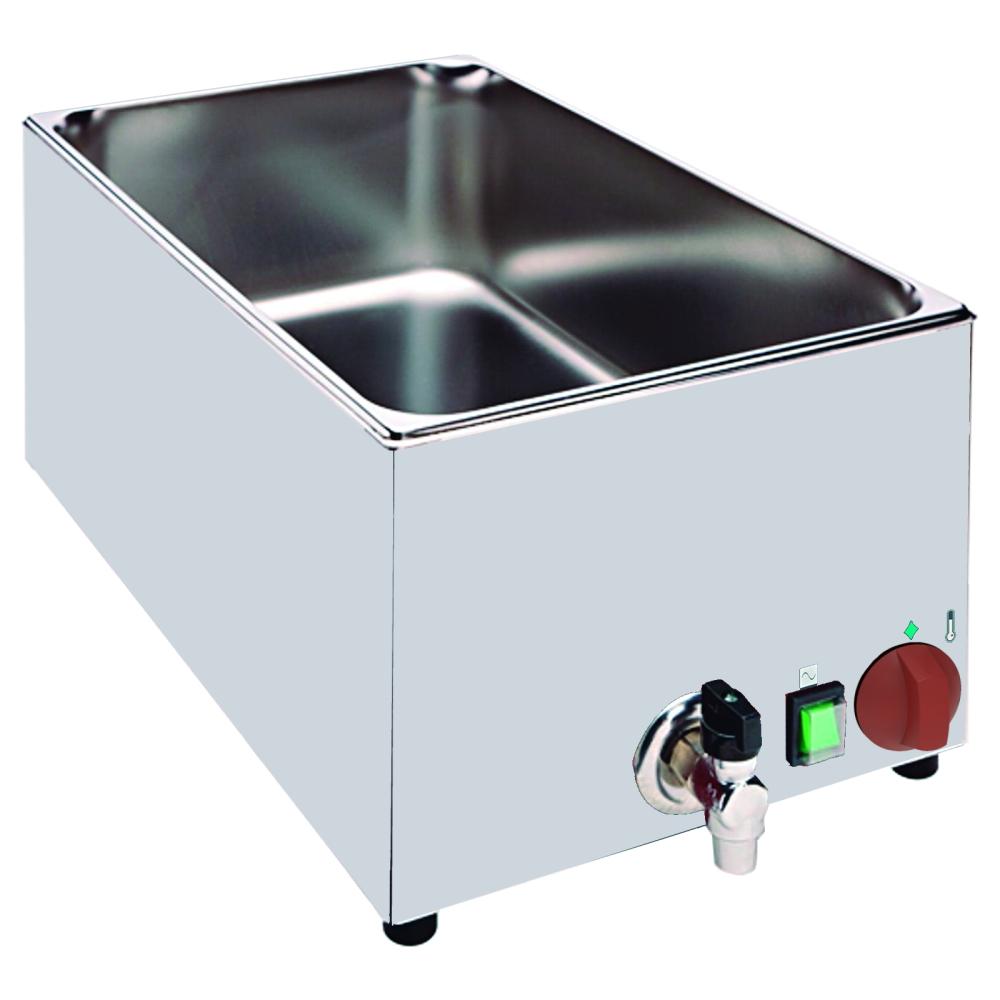 Eurast 51040240 Baño maría electrico para 1 gn 1/1 de sobremesa - 325x560x250 mm - 1,5 KW 230/1V