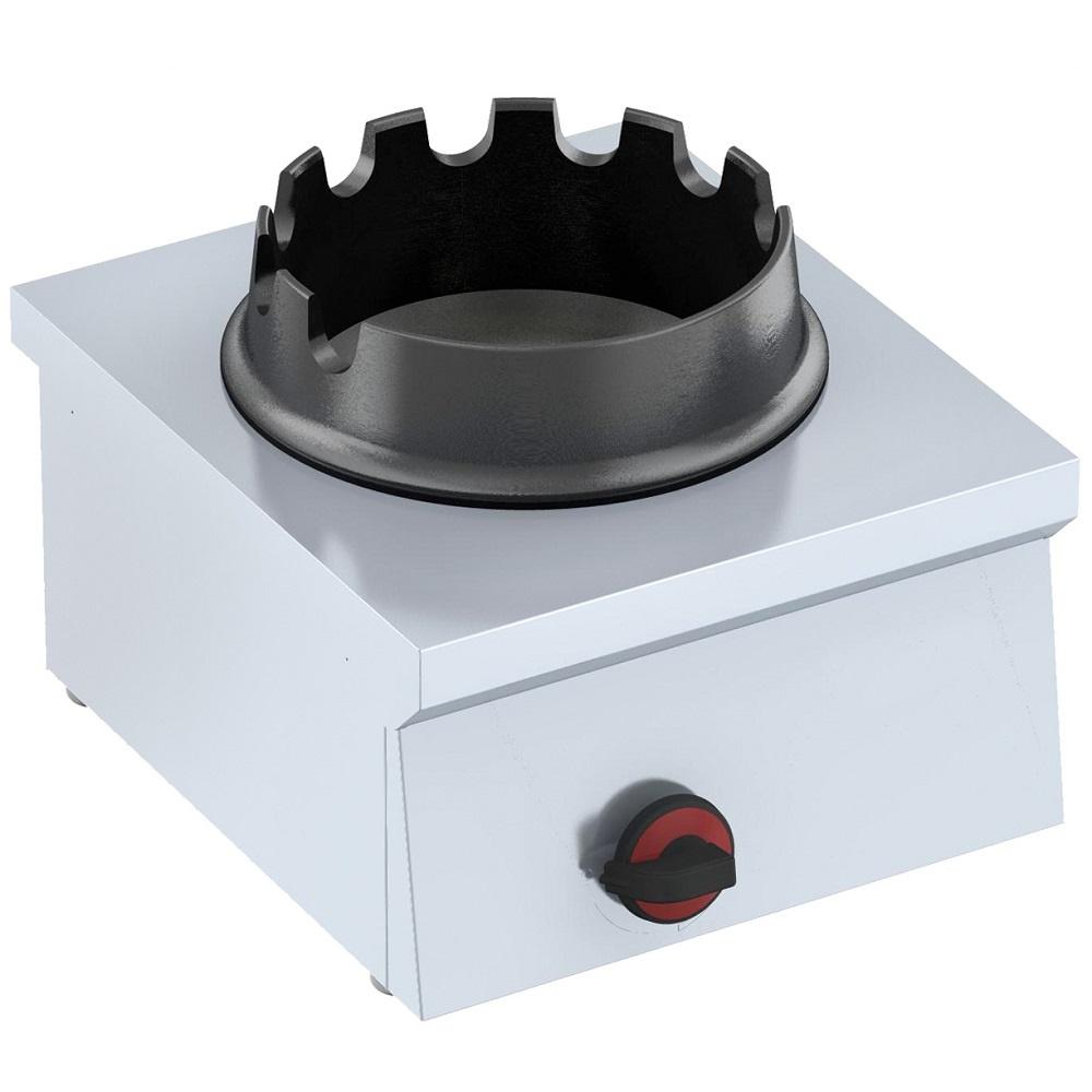 Eurast 44370G13 Wok a gas de sobremesa - 400x450x240 mm - 12 Kw