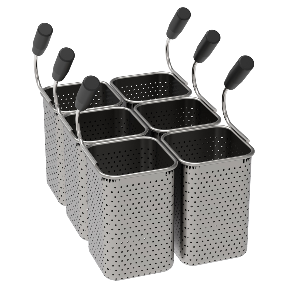Eurast 4A845993 Basket pasta cooker pak 6 ng 1/6 - 140x140x200 mm