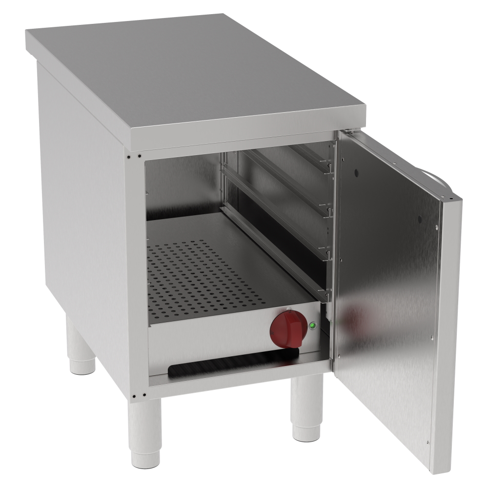Eurast 600104BH Hot reserve for dishes 1 door 3 gn 1/1 - 400x700x630 mm - 1,3 KW 230/1V