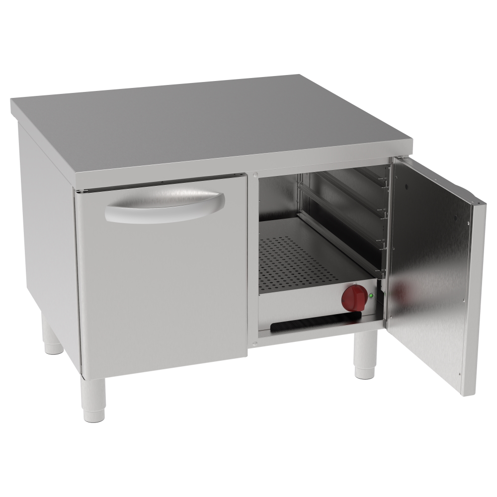 Eurast 600208BH Hot reserve for dishes 2 doors 3 gn 1/1 - 800x700x630 mm - 1,3 KW 230/1V