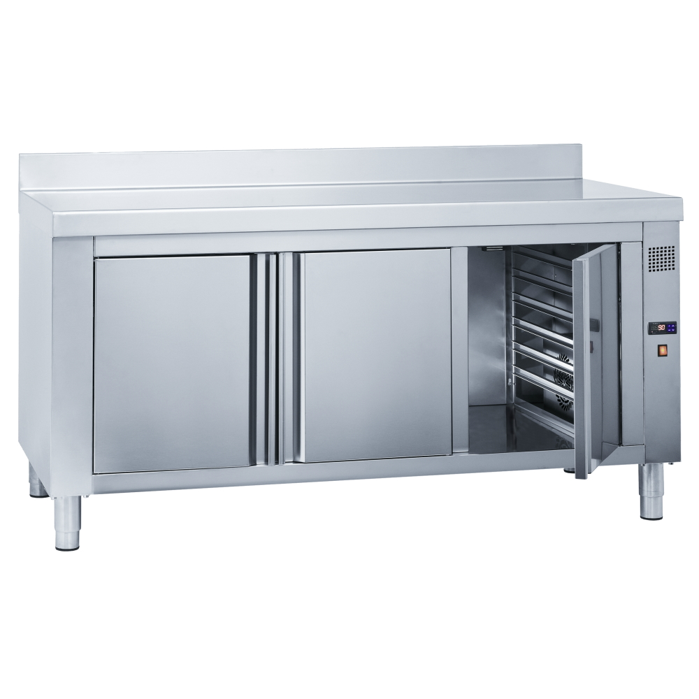 Eurast 62002340 Wall electric hot table for meals 3 doors - 1600x700x850 mm - 3 KW 230/1V