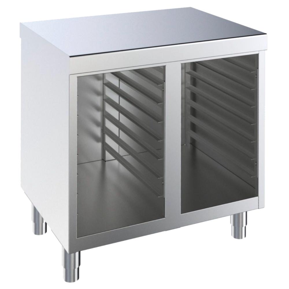 Eurast 41841097 Armario soporte de horno con guías para 7+7 gn 1/1 o 600 x 400 - 1000x700x850 mm