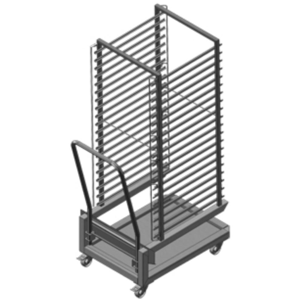 Eurast 41601520 Carro estructura para horno 20 gn 1/1 - 463x751x1746 mm