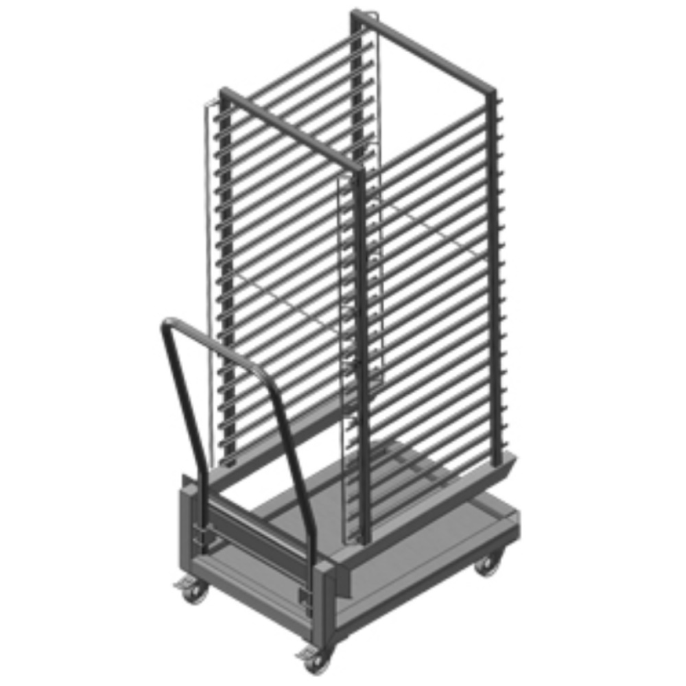 STRUCTURE TROLLEY FOR OVEN