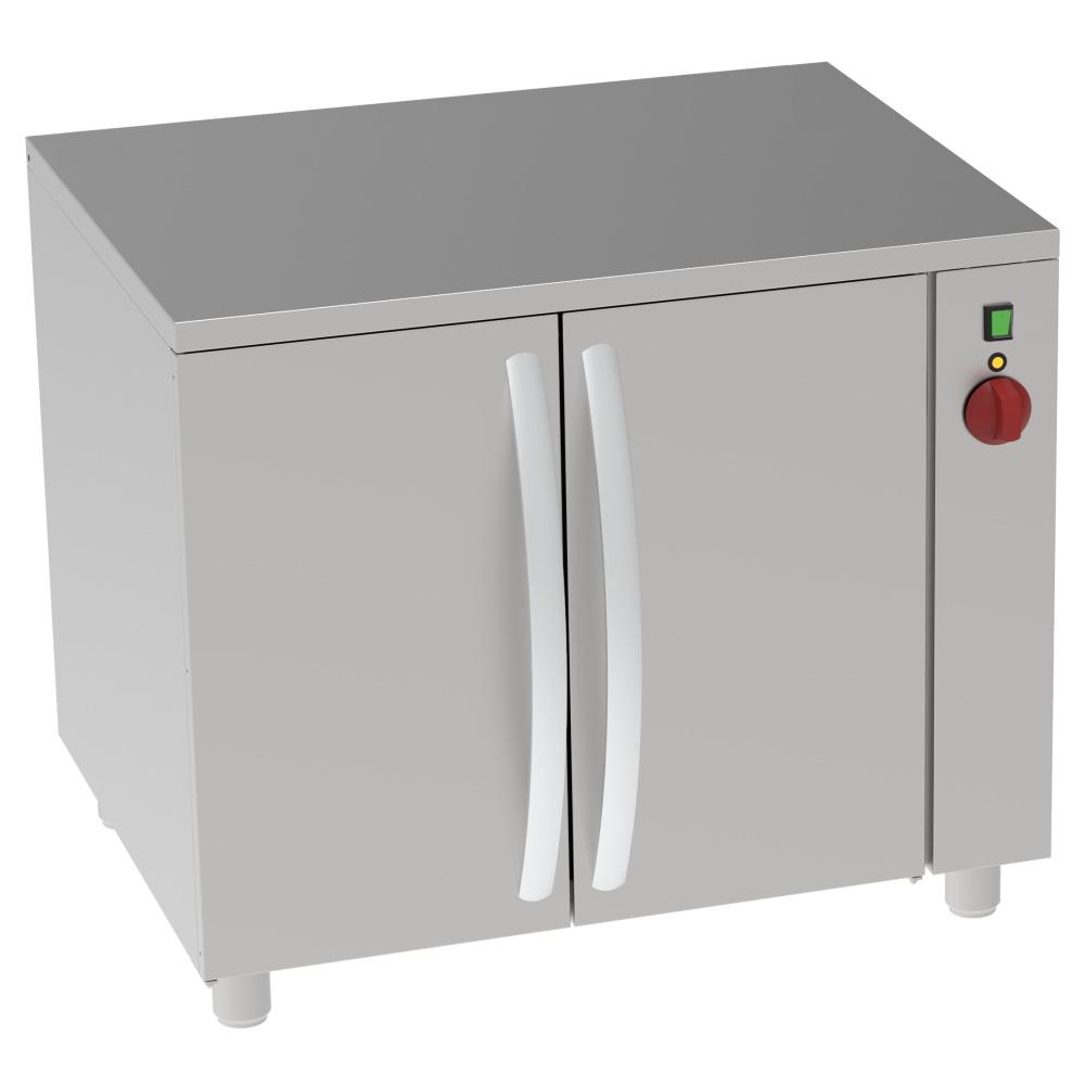 Eurast 80939159 Mesa caliente central electrica 2 puertas para 7 gn 1/1 - 860x670x800 mm - 2 KW 230/