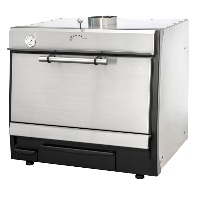 Eurast 52201094 Stainless steel charcoal oven with 685 x 535 grid - 800x680x650 mm