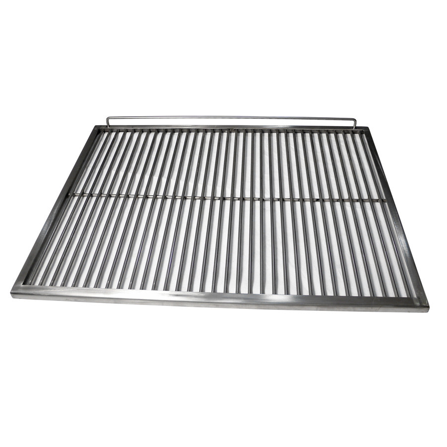 Eurast 4A250009 Stainless steel rod grill for charcoal ovens - 385x625x15 mm