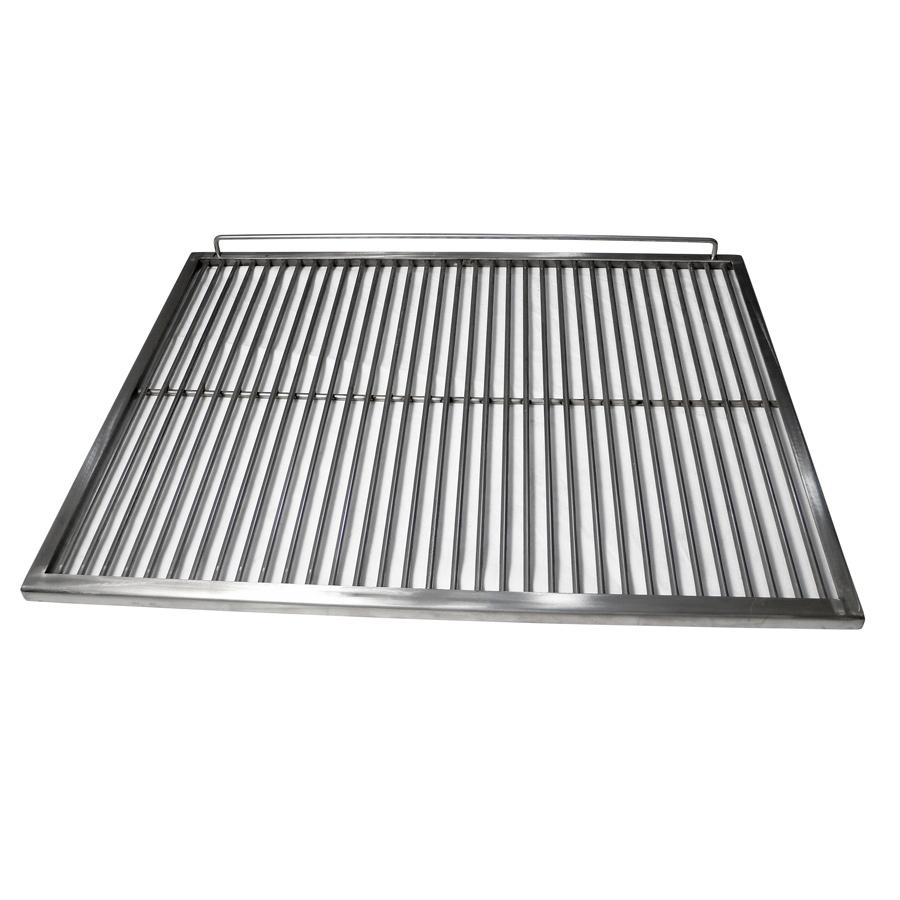 Eurast 4A021009 Parrilla de varilla de inoxidable para hornos de brasa - 1060x625x15 mm