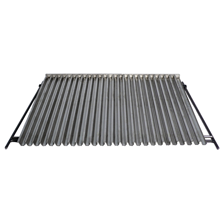 Eurast 4A250109 Stainless steel ribbed grill for charcoal ovens - 385x625x15 mm