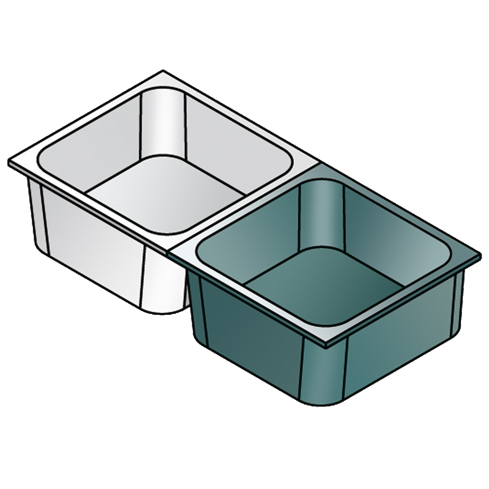 Eurast CP1206X1 Gastronorm container 1/2 - 65 stainless steel - 325x265x65 mm