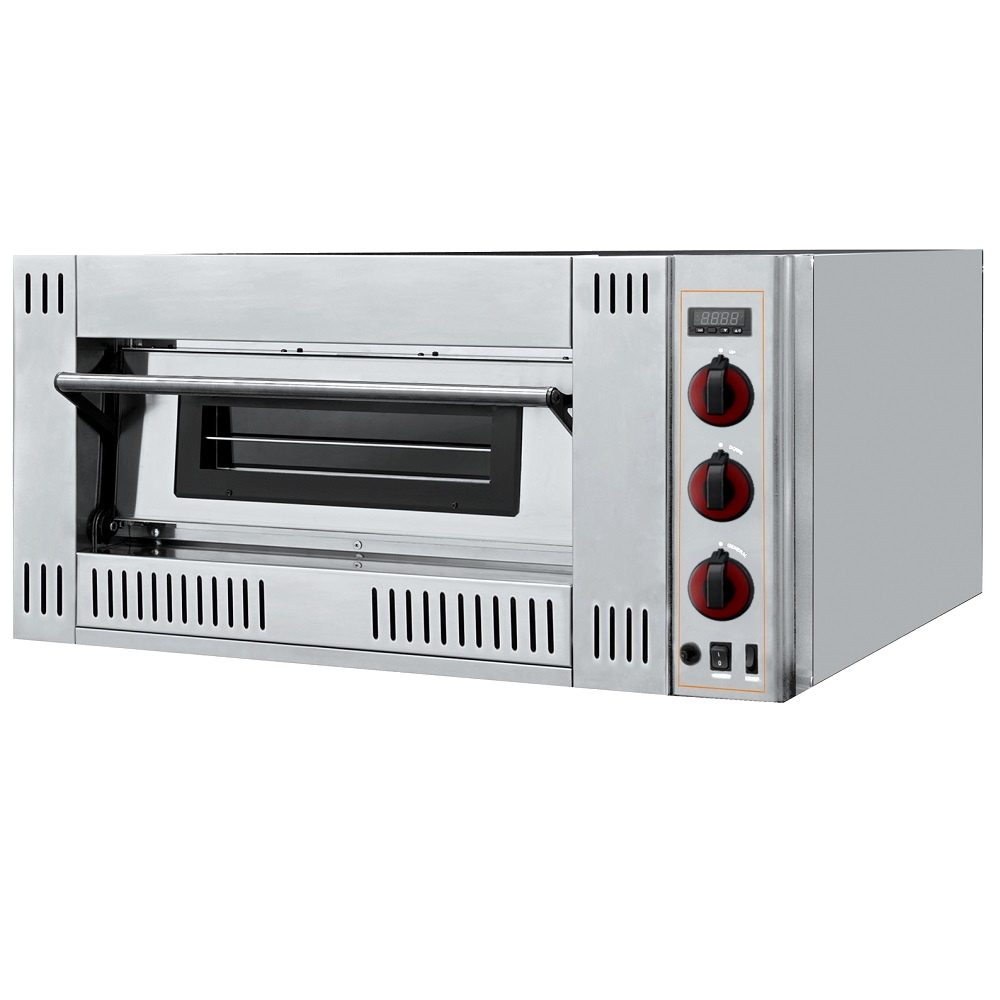 Eurast 516GR122 1 chamber gas pizza oven for 6 pizzas ø 300 - 1000x1140x480 mm - 21 Kw